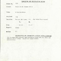 Image for K2150 - Condition and restoration record, circa 1950s-1960s