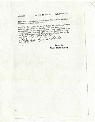 Image for K0214 - Alan Burroughs report, circa 1930s-1940s