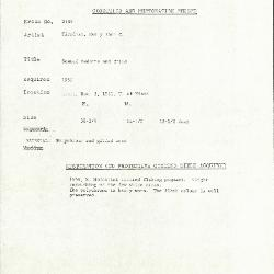 Image for K2133 - Condition and restoration record, circa 1950s-1960s