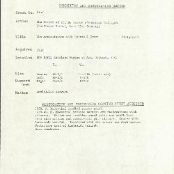Image for K2157 - Condition and restoration record, circa 1950s-1960s