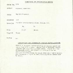 Image for K2178 - Condition and restoration record, circa 1950s-1960s
