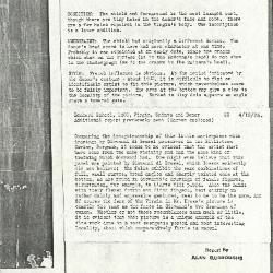 Image for K0022 - Alan Burroughs report, circa 1930s-1940s