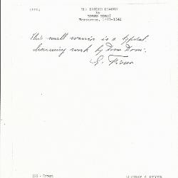 Image for K0226 - Expert opinion by Fiocco, circa 1930s-1940s