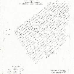 Image for K0221 - Expert opinion by Perkins, circa 1920s-1940s
