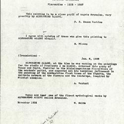 Image for K0224 - Expert opinion by Fiocco et al., circa 1930s-1940s