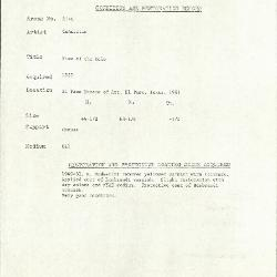 Image for K2174 - Condition and restoration record, circa 1950s-1960s