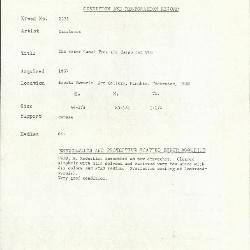 Image for K2173 - Condition and restoration record, circa 1950s-1960s