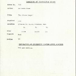 Image for K2185 - Condition and restoration record, circa 1950s-1960s