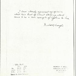 Image for K0219 - Expert opinion by Longhi, circa 1920s-1950s