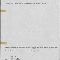 Image for K0233 - Art object record, circa 1930s-1950s