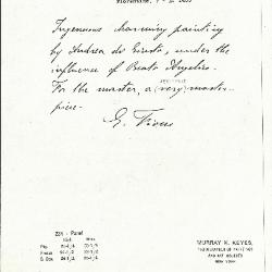 Image for K0234 - Expert opinion by Fiocco, circa 1930s-1940s