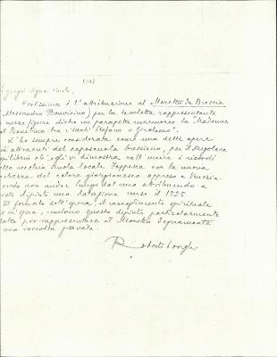 Image for K0024 - Expert opinion by Longhi, circa 1920s-1950s