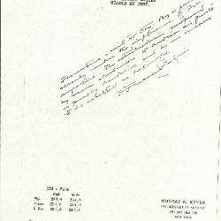 Image for K0234 - Expert opinion by Perkins, circa 1920s-1940s