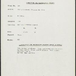 Image for K0229 - Condition and restoration record, circa 1950s-1960s