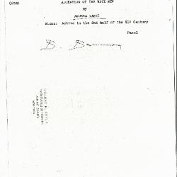 Image for K0233 - Expert opinion by Berenson, circa 1920s-1950s