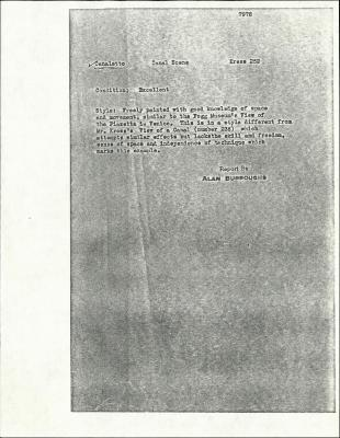 Image for K0252 - Alan Burroughs report, circa 1930s-1940s