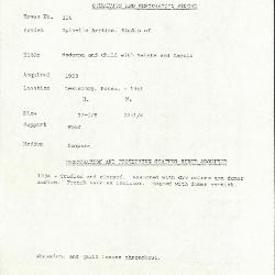 Image for K0256 - Condition and restoration record, circa 1950s-1960s