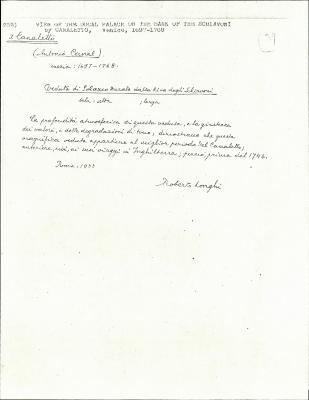 Image for K0252 - Expert opinion by Longhi, 1933