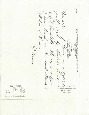Image for K0252 - Expert opinion by Fiocco, circa 1930s-1940s