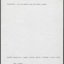 Image for K0252 - Art object record, circa 1930s-1950s