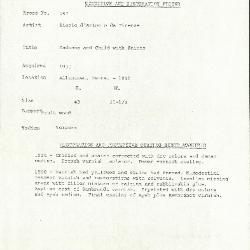 Image for K0257 - Condition and restoration record, circa 1950s-1960s