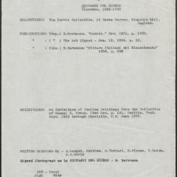 Image for K0259 - Art object record, circa 1930s-1950s