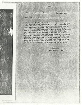Image for K0268 - Alan Burroughs report, circa 1930s-1940s