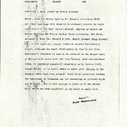 Image for K0266 - Alan Burroughs report, circa 1930s-1940s