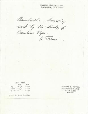 Image for K0260 - Expert opinion by Fiocco, circa 1930s-1940s
