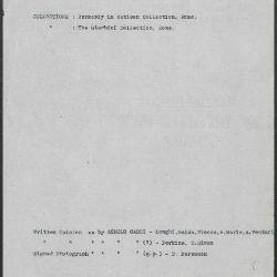 Image for K0261 - Art object record, circa 1930s-1950s