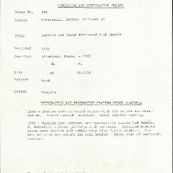 Image for K0265 - Condition and restoration record, circa 1950s-1960s