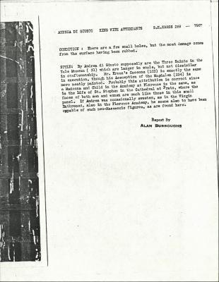 Image for K0269 - Alan Burroughs report, circa 1930s-1940s
