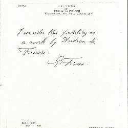Image for K0263 - Expert opinion by Fiocco, circa 1930s-1940s
