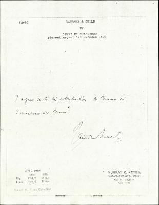 Image for K0268 - Expert opinion by Marle, circa 1920s-1930s