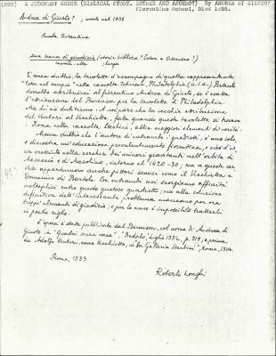 Image for K0269 - Expert opinion by Longhi, 1933