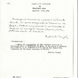 Image for K0028 - Expert opinion by Longhi, circa 1920s-1950s