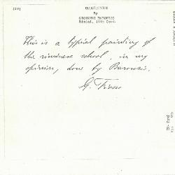 Image for K0029 - Expert opinion by Fiocco, circa 1930s-1940s