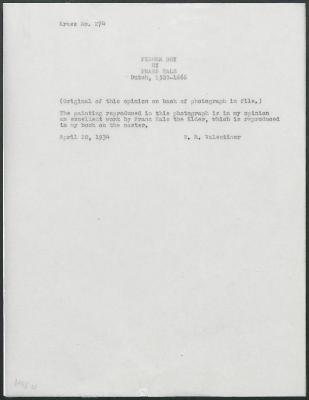 Image for K0274 - Expert opinion by Valentiner, 1934