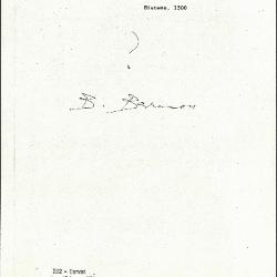 Image for K0292 - Expert opinion by Berenson, circa 1920s-1950s