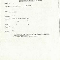 Image for K0301 - Condition and restoration record, circa 1950s-1960s