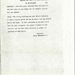 Image for K0292 - Alan Burroughs report, circa 1930s-1940s