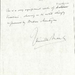 Image for K0293 - Expert opinion by Marle, circa 1920s-1930s