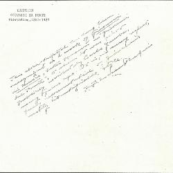 Image for K0300 - Expert opinion by Perkins, circa 1920s-1940s