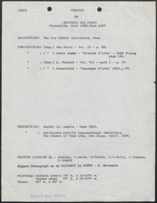 Image for K0300 - Art object record, circa 1930s-1950s