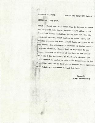 Image for K0300 - Alan Burroughs report, circa 1930s-1940s