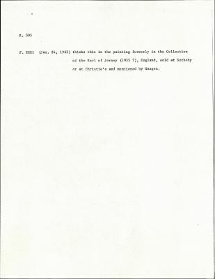 Image for K0305 - Expert opinion by Zeri, circa 1950s-1960s