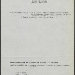 Image for K0310 - Art object record, circa 1930s-1950s