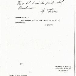 Image for K0308 - Expert opinion by Fiocco, circa 1930s-1940s