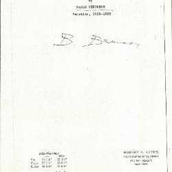 Image for K0305 - Expert opinion by Berenson, circa 1920s-1950s