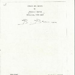 Image for K0315 - Expert opinion by Berenson, circa 1920s-1950s